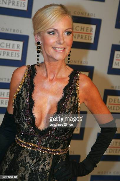 Marion Fedder wife of actor Jan Fedder arrives at the 15th German Media Award 2006 at the Congress Hall on February 7 2007 in BadenBaden Germany