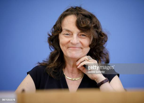 Marion Haubitz Member of the German Council of Experts for the Assessment of Healthcare Development is pictured during a press conference to present...