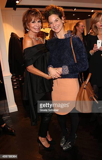 Marion Heinrich and Bibiana Beglau pose during MaryKate Olsen and Ashley Olsen present their collection 'The Row' at Marion Heinrich on November 20...