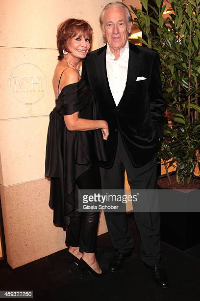 Marion Heinrich and her husband Dr Leo Benz during MaryKate Olsen and Ashley Olsen present their collection 'The Row' at Marion Heinrich on November...