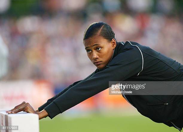 Marion Jones of the USA pictured during the IAAF Golden Spike meet in Ostrava Czech Republic