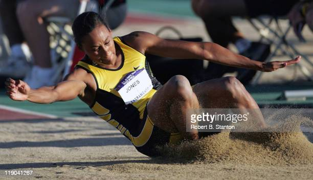 Marion Jones won the women's long jump with a 234 jump at the US Track and Field Olympic trials at California State University Sacramento Hornet...