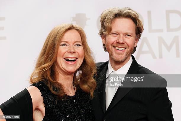Marion Kracht and Berthold Manns attend the Goldene Kamera 2016 on February 6 2016 in Hamburg Germany
