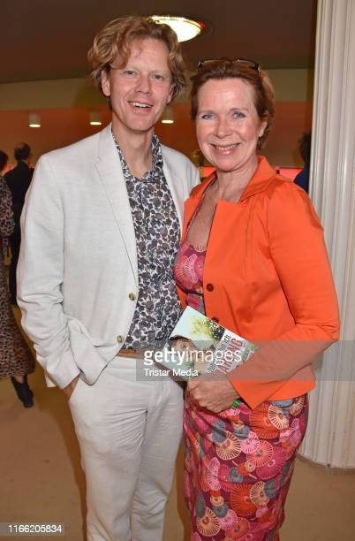Marion Kracht and Berthold Manns attend the 'Zuhause bin ich, Darling' theater premiere at Komoedie am Kurfuerstendamm im Schiller-Theater on August...