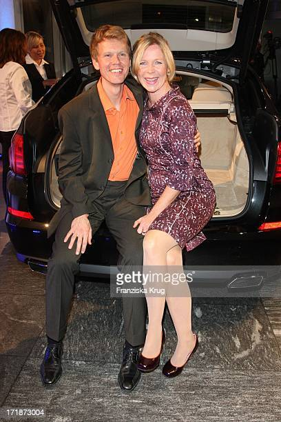 Marion Kracht and friend Berthold In The Germany Premiere Of BMW 5 Series Gran Turismo in Berlin