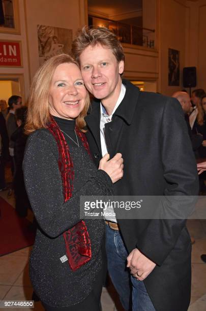 Marion Kracht and her husband Berthold Manns attend the 'Die Niere' premiere on March 4 2018 in Berlin Germany