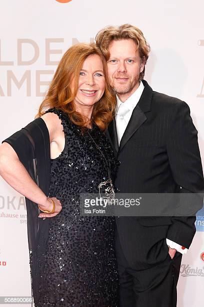 Marion Kracht and her husband Berthold Manns attend the Goldene Kamera 2016 on February 6 2016 in Hamburg Germany
