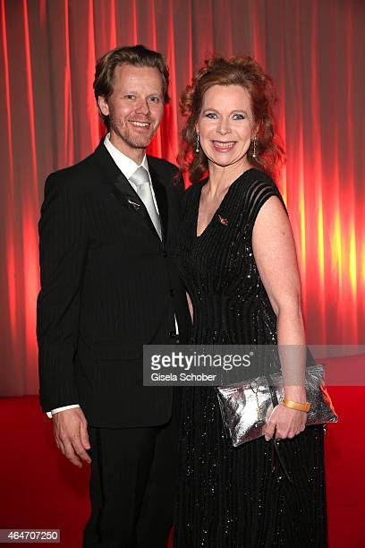 Marion Kracht and her husband Berthold Manns during the Goldene Kamera 2015 reception on February 27 2015 in Hamburg Germany