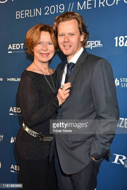 "Marion Kracht and her husband Berthold Manns during the ""Hey World"" charity gala at Metropolis on November 11, 2019 in Berlin, Germany."
