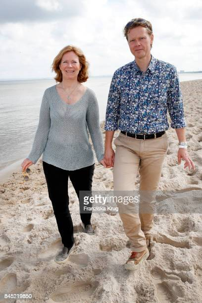 Marion Kracht and herhusband Berthold Manns attend the Till Demtroeders CharityEvent 'Usedom Cross Country' at Seebruecke Ahlbeck on September 10...
