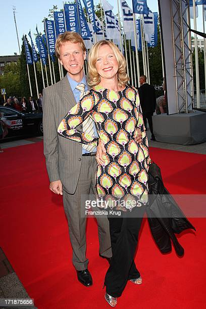 Marion Kracht And Husband Berthold Manns In The Ifa opening gala at the Palais am Funkturm in Berlin