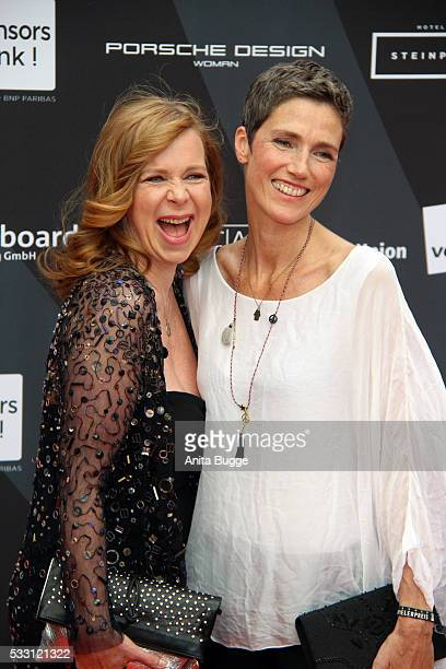Marion Kracht and Julia Bremermann attend the Deutscher Schauspielerpreis 2016 at Zoo Palast on May 20, 2016 in Berlin, Germany.