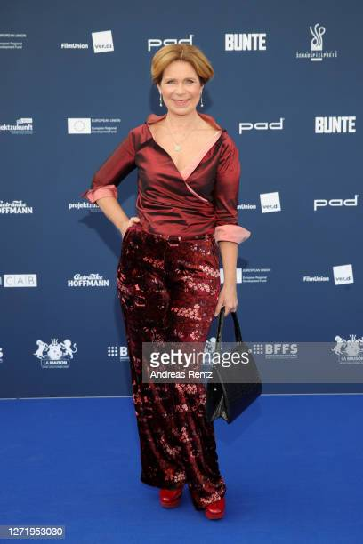 Marion Kracht arrives for the Deutscher Schauspielpreis 2020 at Spindler & Klatt on September 11, 2020 in Berlin, Germany.