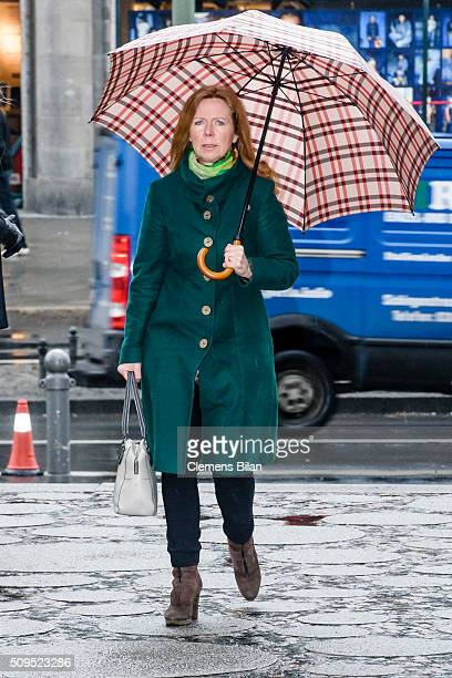 Marion Kracht attends the Wolfgang Rademann memorial service on February 11 2016 in Berlin Germany