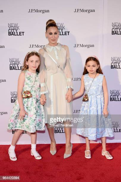 Marion Loretta Elwell Broderick Sarah Jessica Parker andTabitha Hodge Broderick attend New York City Ballet 2018 Spring Gala at Lincoln Center on May...