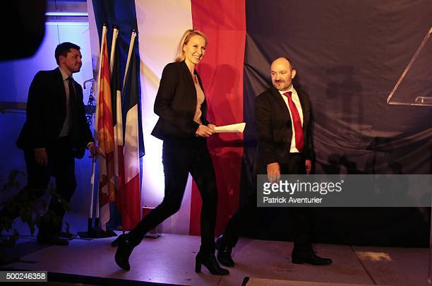 Marion Marechal Le Pen vicepresident of the French farright Front National party and candidate for the regional elections in the ProvenceAlpesCote...