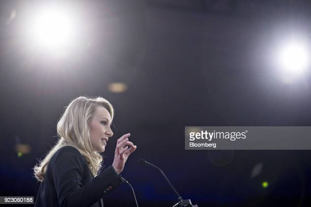 Marion MarechalLe Pen France's National Front politician speaks at the Conservative Political Action Conference in National Harbor Maryland US on...