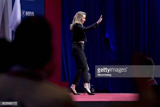 Marion MarechalLe Pen France's National Front politician waves after speaking at the Conservative Political Action Conference in National Harbor...