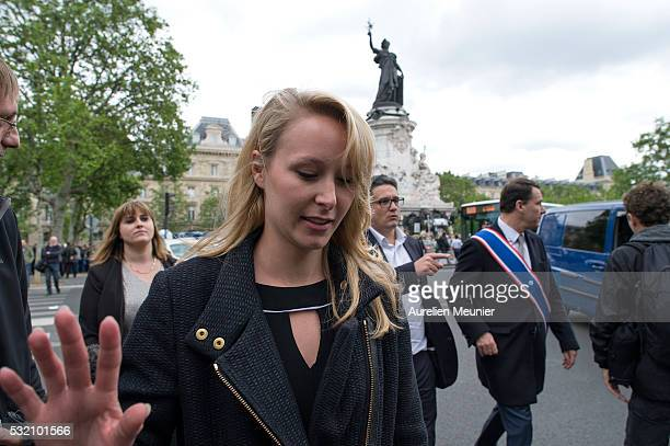 Marion MarechalLe Pen member of the Front National and Spokesman for Vaucluse's 3rd constituency attends the police demonstration on May 18 2016 in...