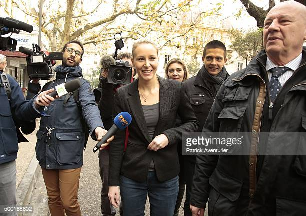 Marion MarechalLe Pen vice President of the French farright Front National party and candidate for the regional elections in the ProvenceAlpesCote...