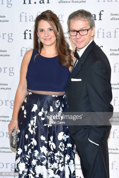 Marion Naufalal and Jean-Christian Agid attend Sidney Toledano and Peter Marino being honored at French Institute Alliance Francaise's Trophee des...