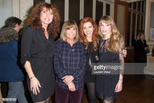 Marion Posta Chantal Goya Anais Delva and Cecilia Cara attend 'Enooormes' Paris Premiere at Theater Trevise on January 12 2018 in Paris France