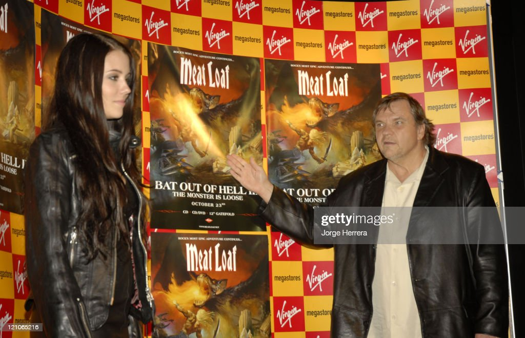 """Meat Loaf Signing for His New Single """"It's All Coming Back to Me Now"""" at Virgin"""