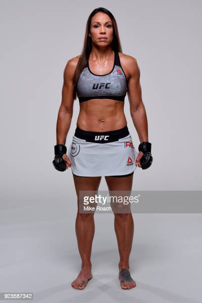 Marion Reneau of Brazil poses for a portrait during a UFC photo session on February 21 2018 in Orlando Florida