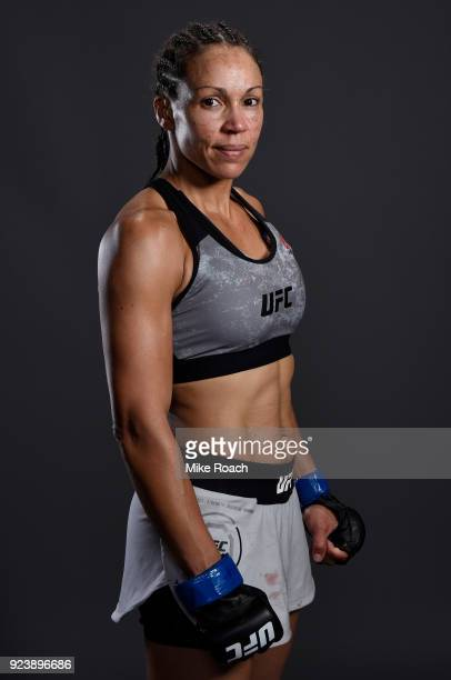 Marion Reneau poses for a portrait backstage after her victory over Sara McMann during the UFC Fight Night event at Amway Center on February 24 2018...