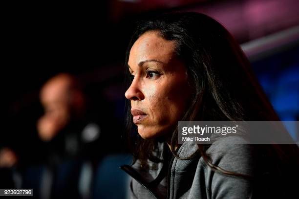 Marion Reneau waits backstage during the UFC Fight Night Weighins at Amway Center on February 23 2018 in Orlando Florida