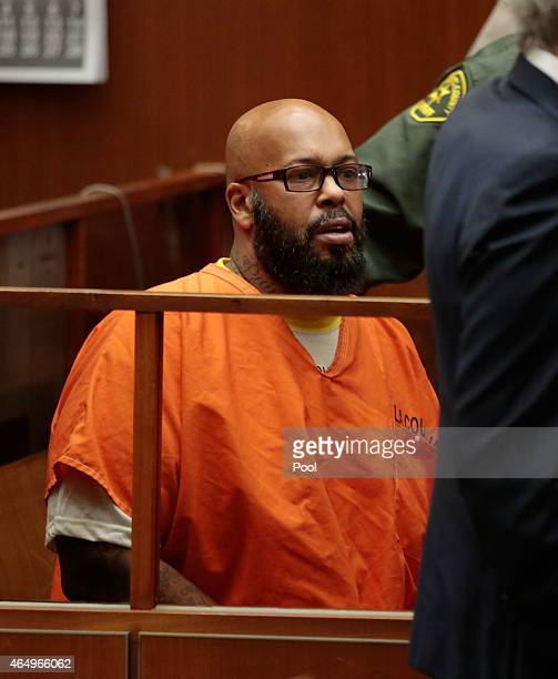 Marion 'Suge' Knight attends court at the Criminal Courts Building on March 2 2015 in Los Angeles California The hearing was scheduled to determine...