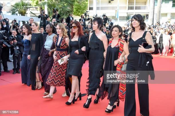Marion Tharaud, Marion Cotillard, Wanuri Kahiu, Deborah Francois, Maha Dakhil, Kim Longinotto, Marleyda Soto, Zabou Breitman walk the red carpet in...
