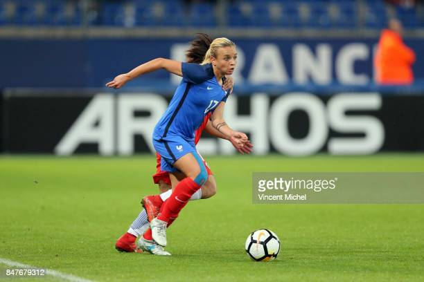 Marion Torrent of France during the women's international friendly match between France and Colombia at Stade Michel D'Ornano on September 15 2017 in...