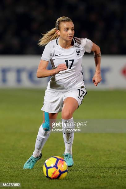 Marion Torrent of France in action during a Women's International Friendly match between France and Sweden at Stade ChabanDelmas on November 27 2017...