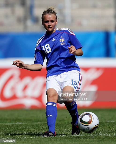 Marion Torrent of France runs with the ball during the FIFA U20 Women's World Cup Group A match between Colombia and France at the FIFA U20 Women's...