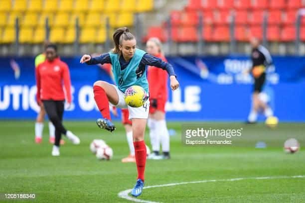 Marion TORRENT of France warms up before the Tournoi de France International Women's soccer match between France and Canada on March 4 2020 in Calais...