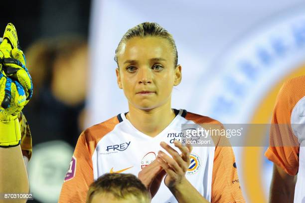 Marion Torrent of Montpellier during the French Women's Division 1 match between Paris Saint Germain and Montpellier on November 4 2017 in Paris...