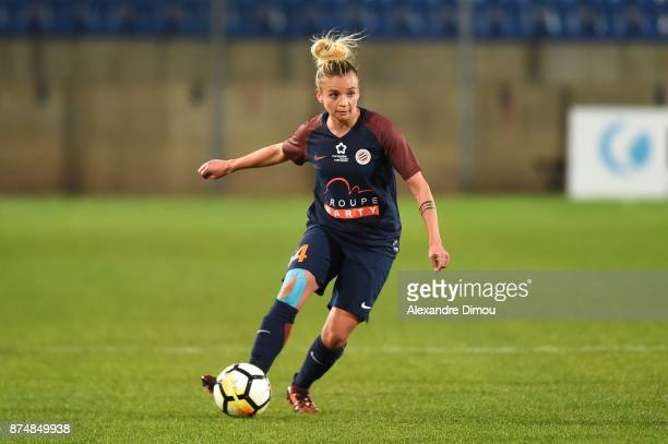 Marion Torrent of Montpellier during the UEFA women's Champions League match Round of 16 second leg between Montpellier and Brescia on November 15...