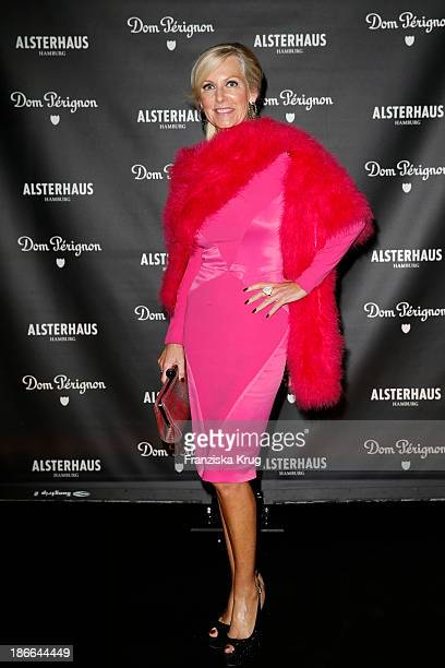 Marion Vedder attends the Dom Perignon Balloon Venus by Jeff Koons at Alsterhaus on November 02 2013 in Hamburg Germany