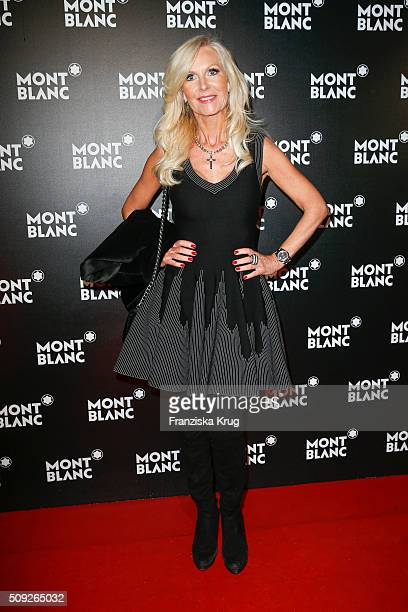 Marion Vedder attends the Montblanc House Opening on February 09 2016 in Hamburg Germany