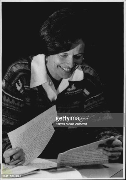 Marion Writes a letter to a prisoner at her home in Thornleigh Its part of a scheme of Pen Pals with prisonersPenitentiary pals 'Marion' writes to a...