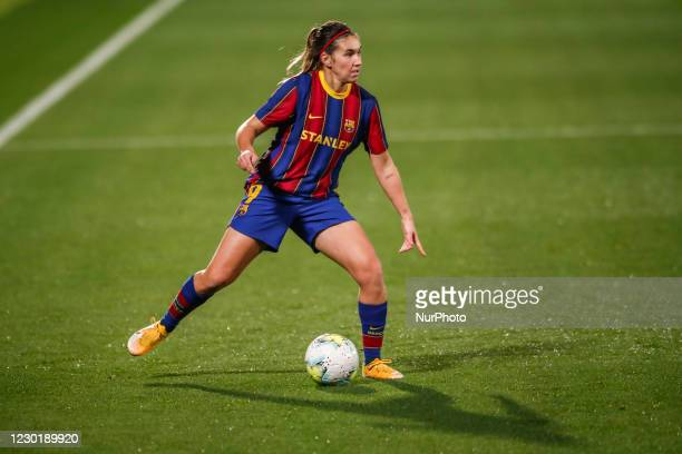 Mariona Caldentey of FC Barcelona during the UEFA Champions League Women match between PSV v FC Barcelona at the Johan Cruyff Stadium on December 16,...