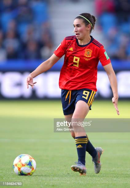 Mariona Caldentey of Spain runs with the ball during the 2019 FIFA Women's World Cup France group B match between Spain and South Africa at Stade...