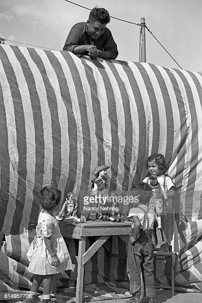 marionette show at gutierrez show 1947 - puppet show stock photos and pictures