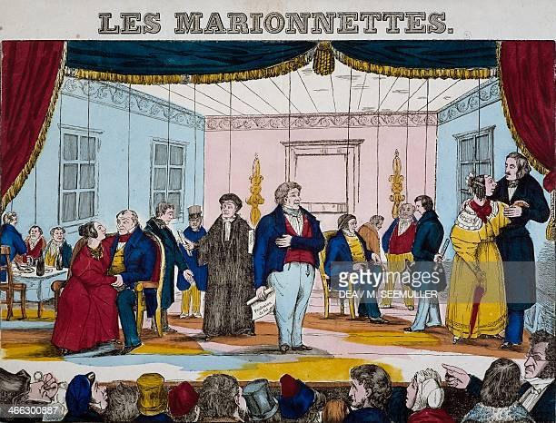 Marionettes print by Epinal France 19th century