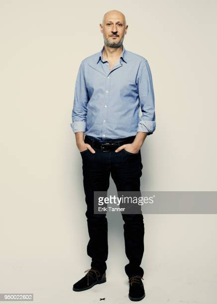 Marios Piperides of the film Smuggling Hendrix poses for a portrait during the 2018 Tribeca Film Festival at Spring Studio on April 22 2018 in New...