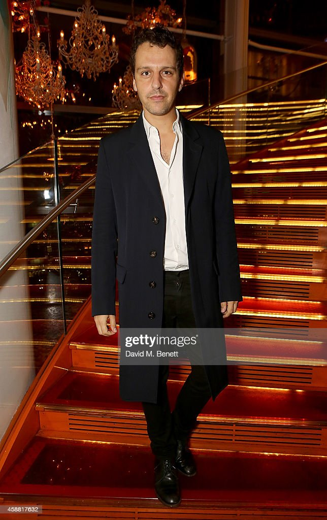Marios Schwab attends as Sushisamba celebrates its second anniversary with a performance by Lily Allen and a VIP party at Sushi Samba on November 11, 2014 in London, England.