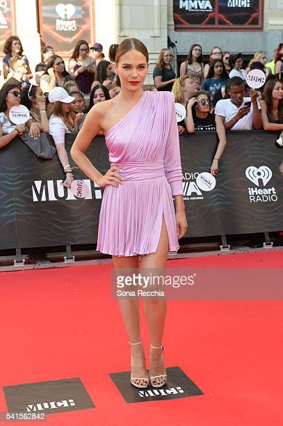 Maripier Morin arrives at the 2016 iHeartRADIO MuchMusic Video Awards at MuchMusic HQ on June 19 2016 in Toronto Canada