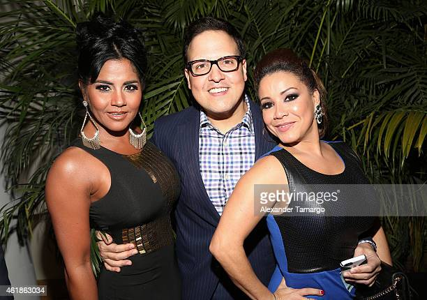 Maripily, Raul Gonzalez and Carolina Sandoval arrive at Telemundo International Welcome Party during NATPE 2015 at Adrienne Arsht Center on January...