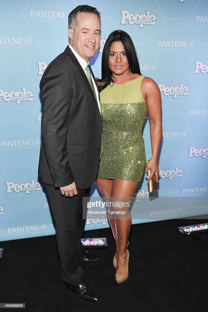 Maripily Rivera (R) and guest arrive at the Estrellas Del Ano De People En Espanol party at The James Royal Palm Hotel on December 12, 2013 in Miami, Florida.